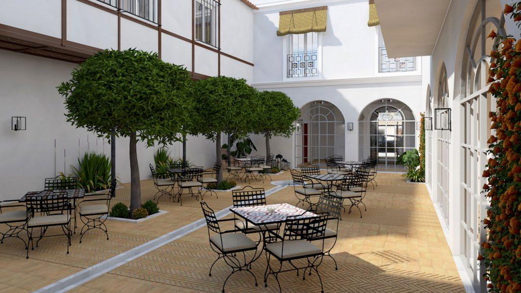 Patio andaluz del Hotel Albariza